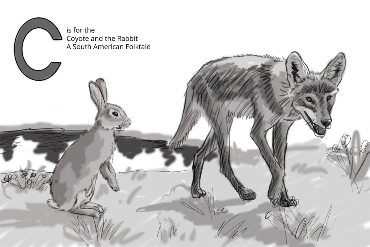A value sketch for the final illustration.