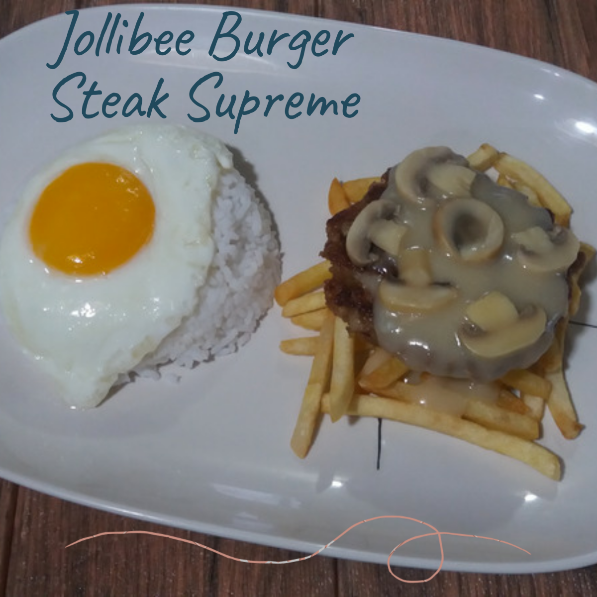Jollibee burger steak supreme