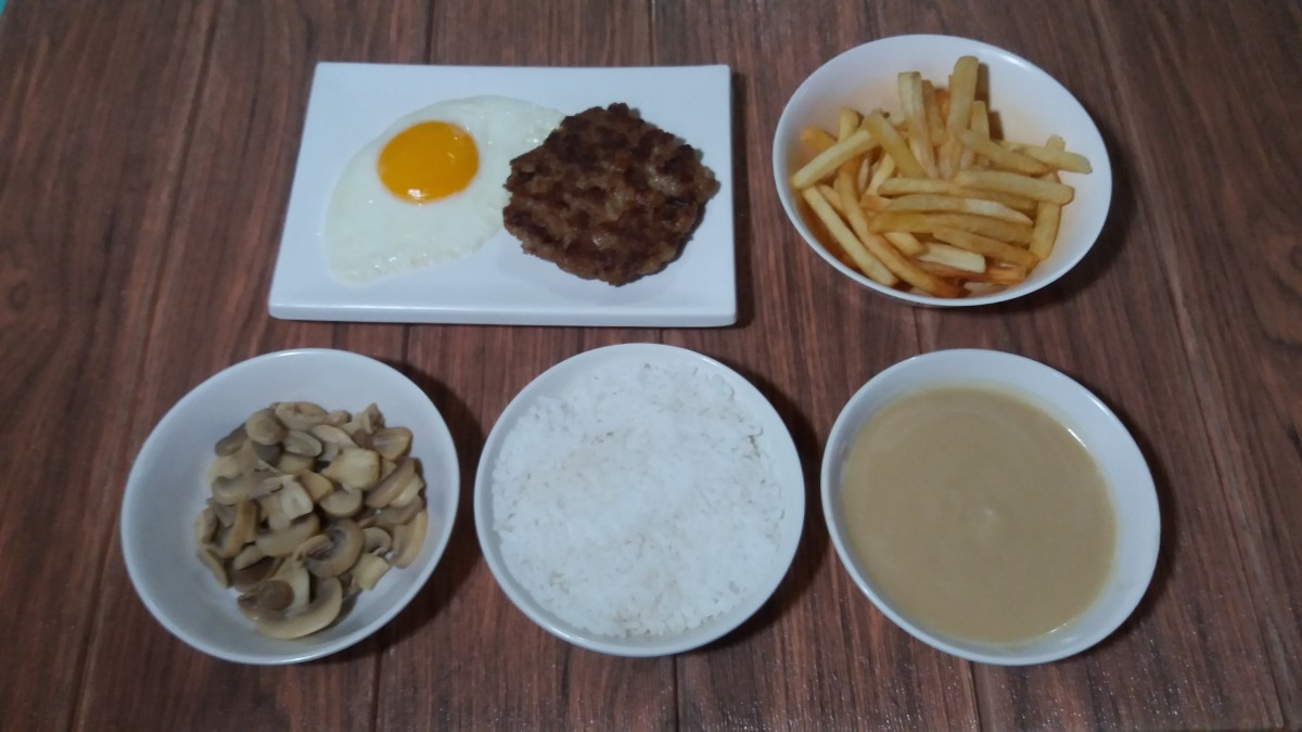 Jollibee burger steak supreme ingredients