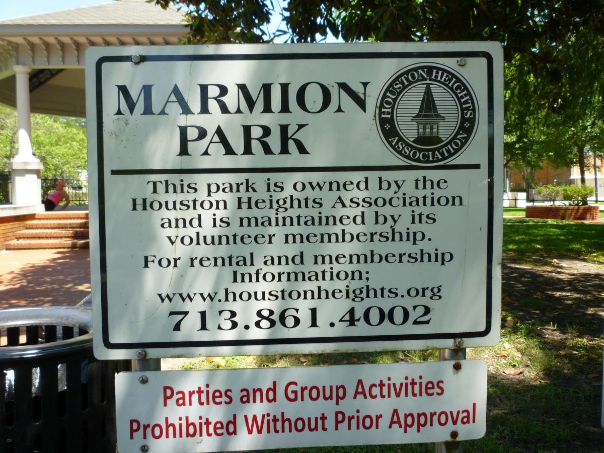 Marmion Park Sign