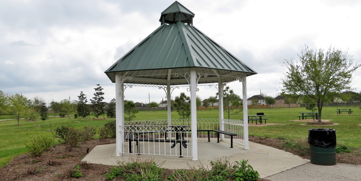 Gazebo in Mason Road Park of Katy, Texas