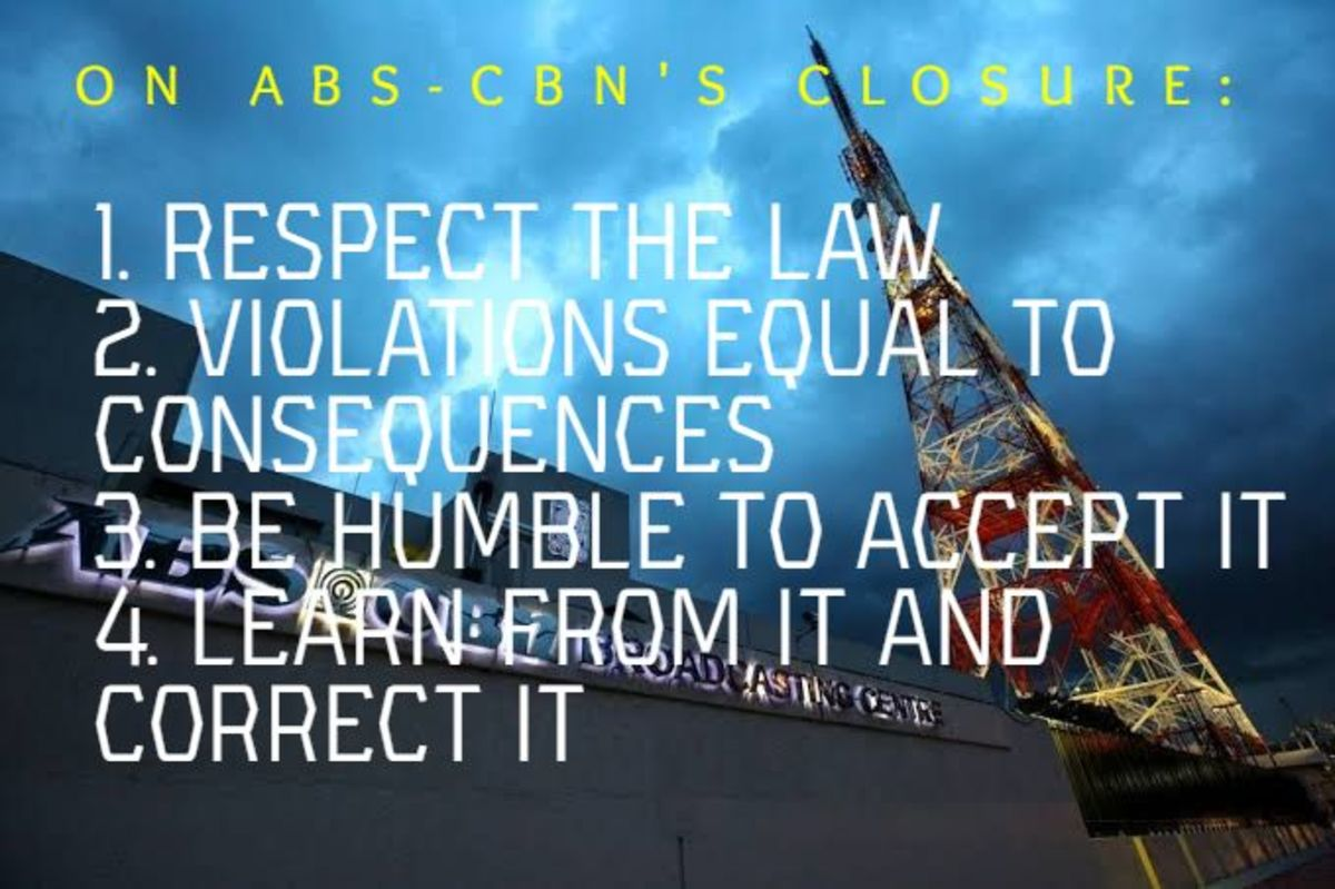 An Opinion on Abs-Cbn's Closure