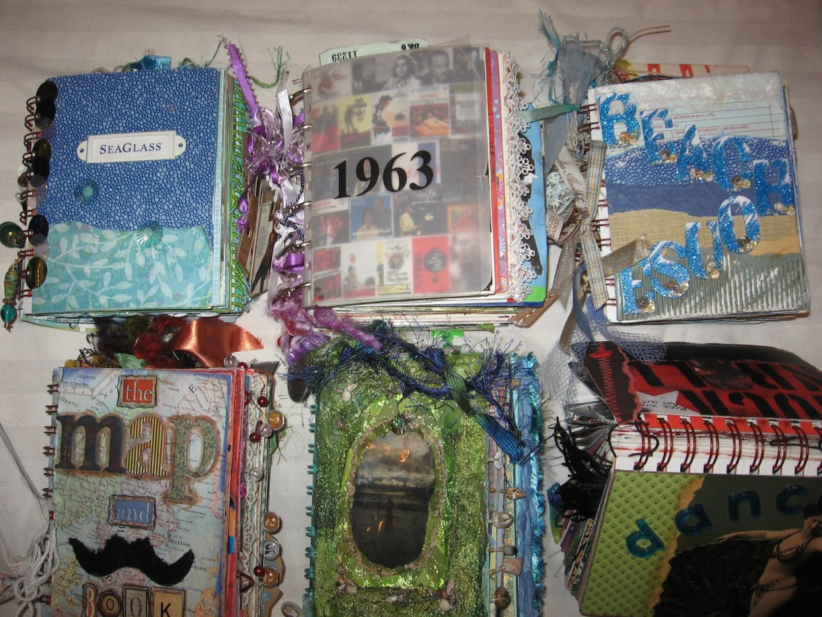 You can create an altered book on any theme that you can think of