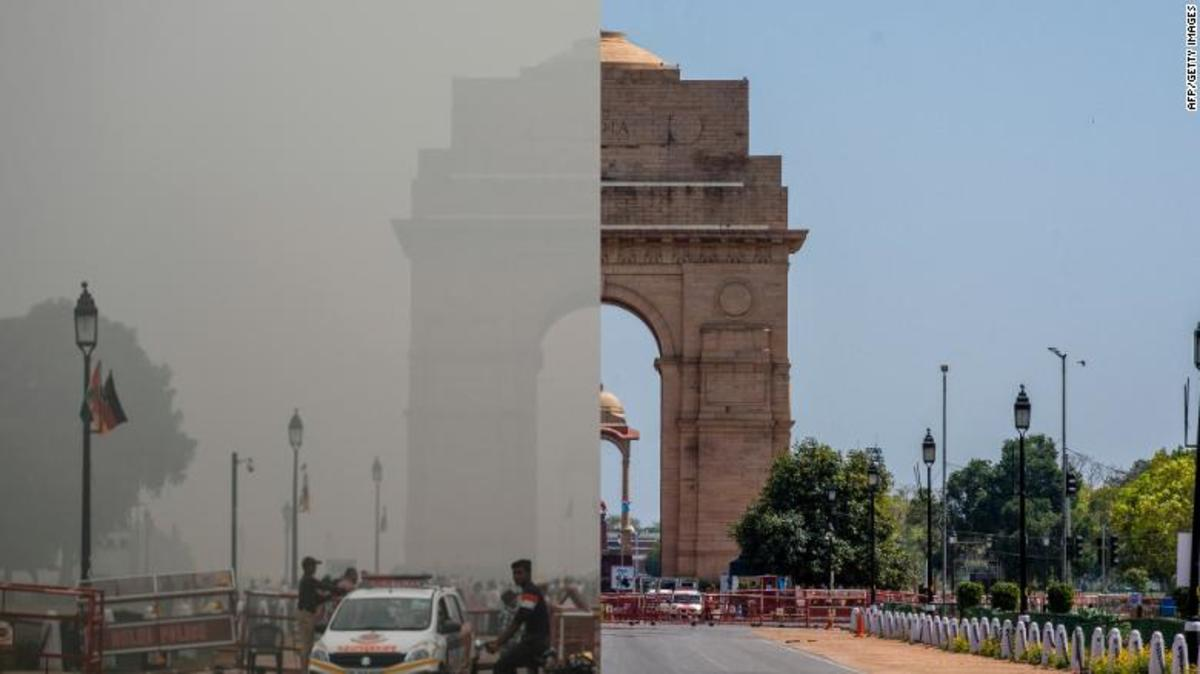 An interesting side effect of the coronavirus lockdown in India is greatly improved air quality.