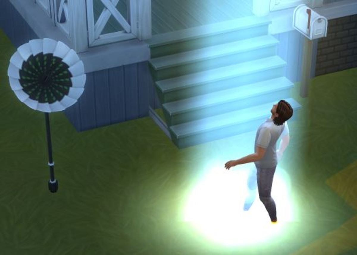 A Sim being abducted will disappear from gameplay for several seconds.