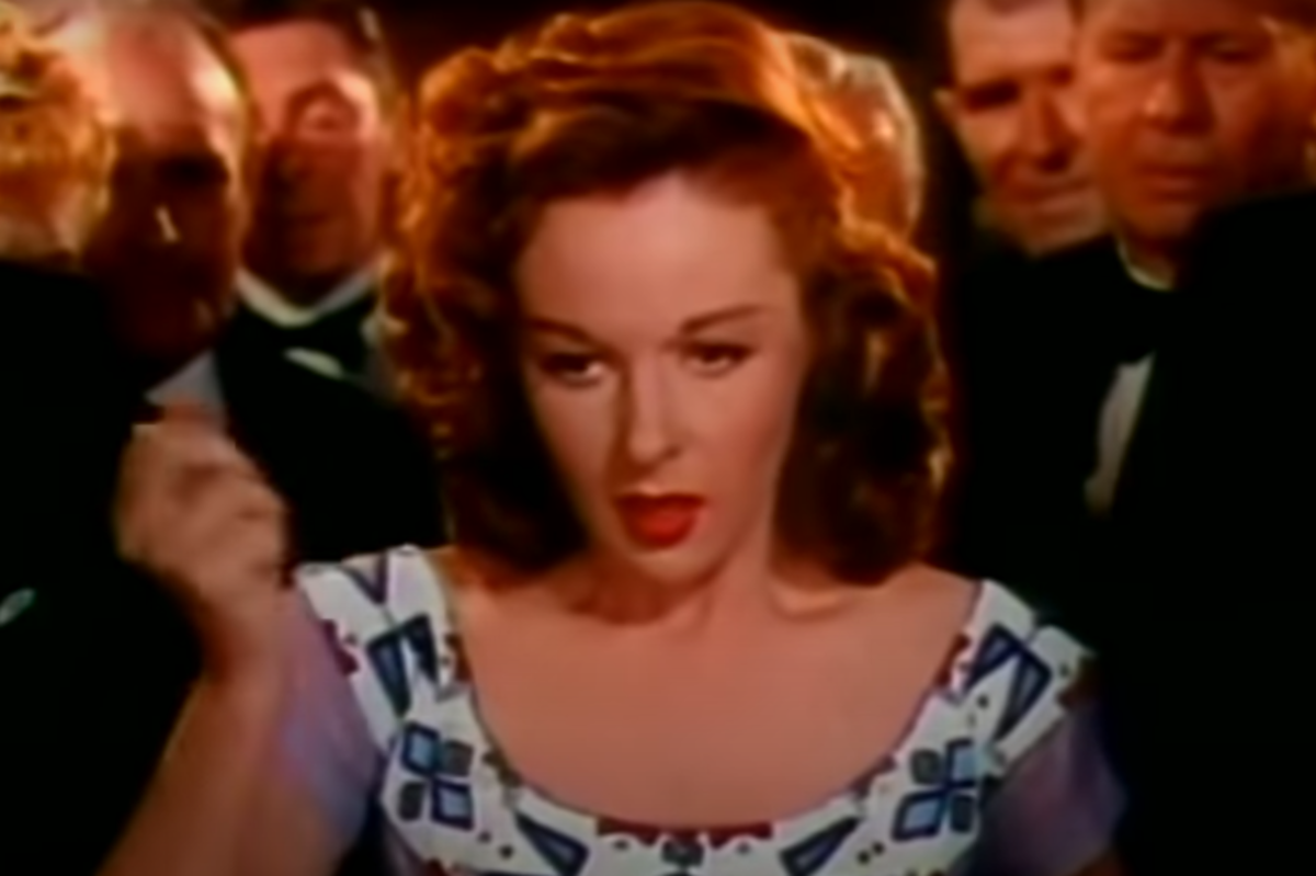 Cherokee rolls the dice. Played by Susan Hayward