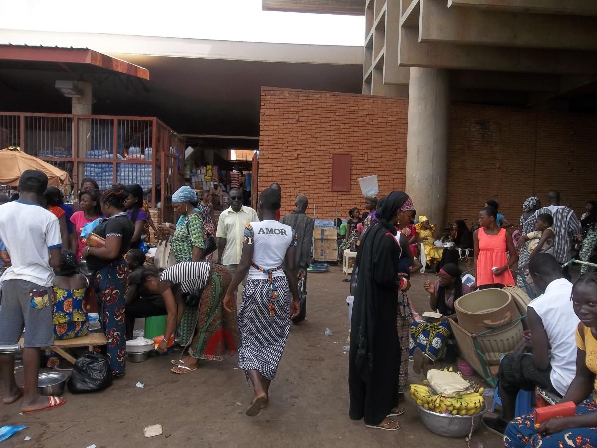 Outside the main Market in Ouagadougou