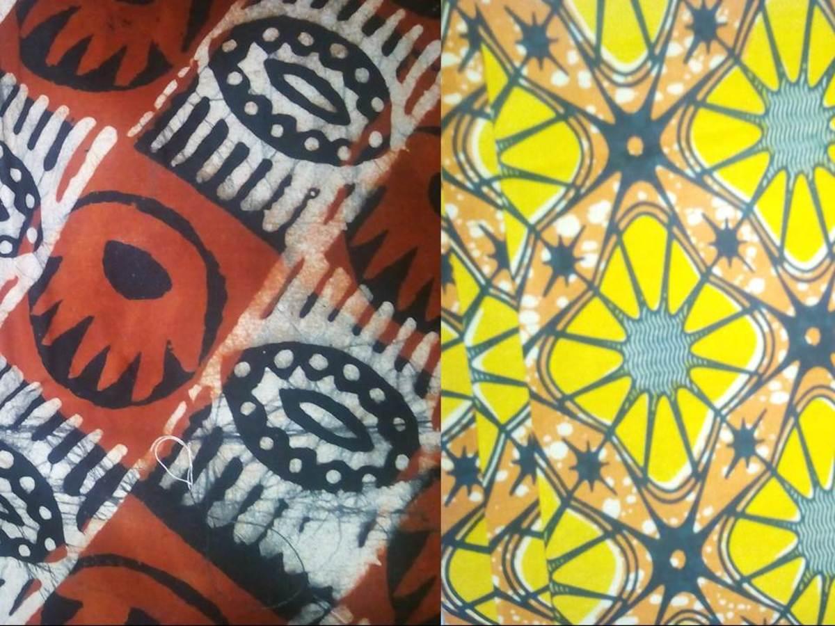 African Print fabrics sold in Ouagadougou