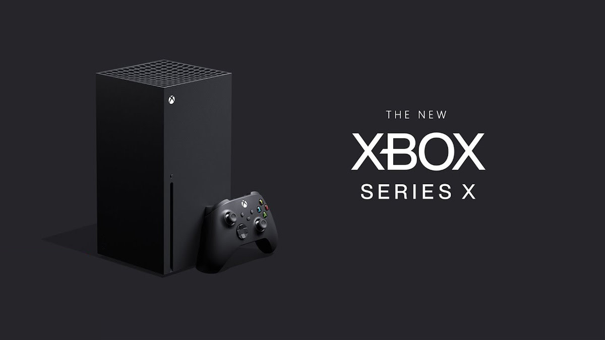 The Xbox Series X in vertical postion
