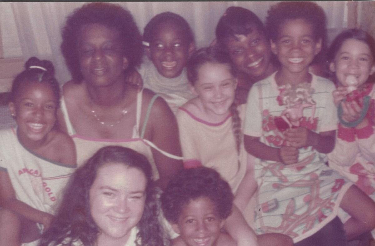 Family Gathering.  I am bottom left.