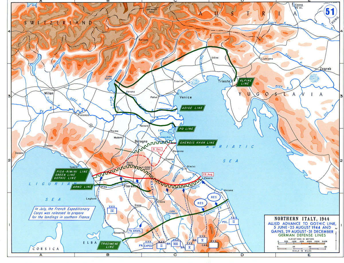 Battle in North Italy: The Gothic Line World War II