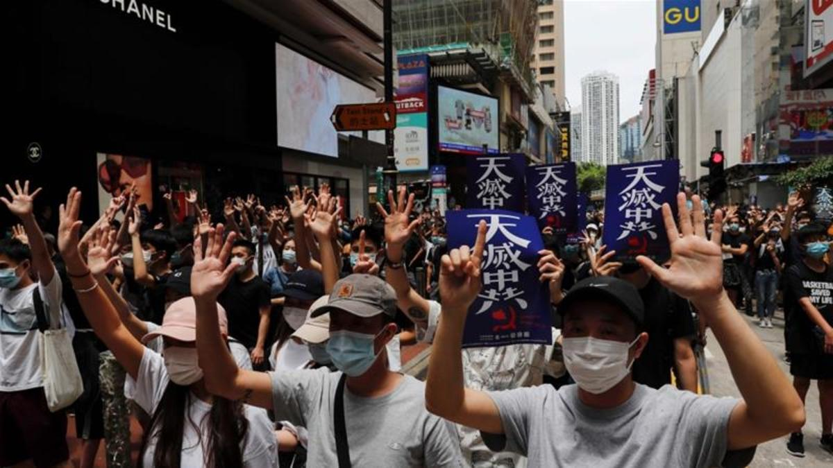 Pro-democratic protests in Hongkong