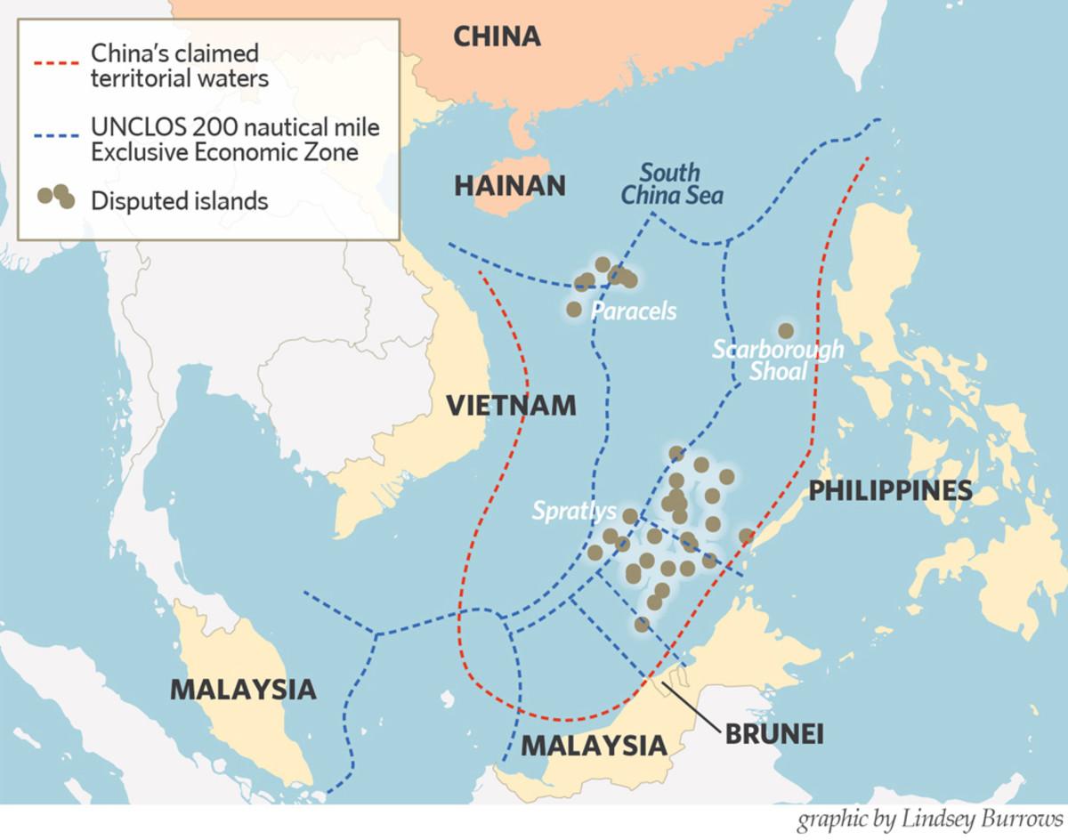 Territorial controversy in South China Sea