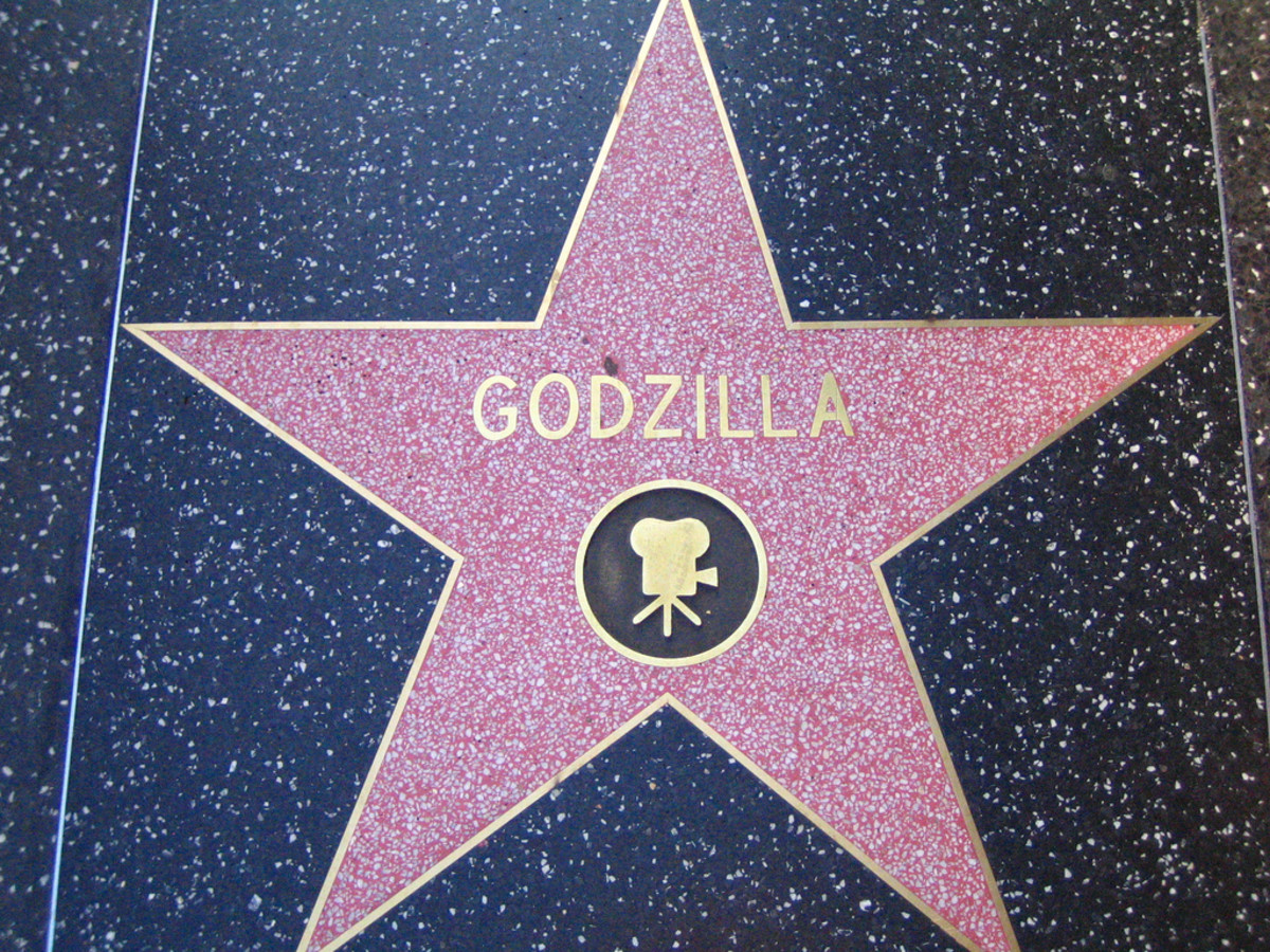 Godzilla's star on the Hollywood Walk of Fame.