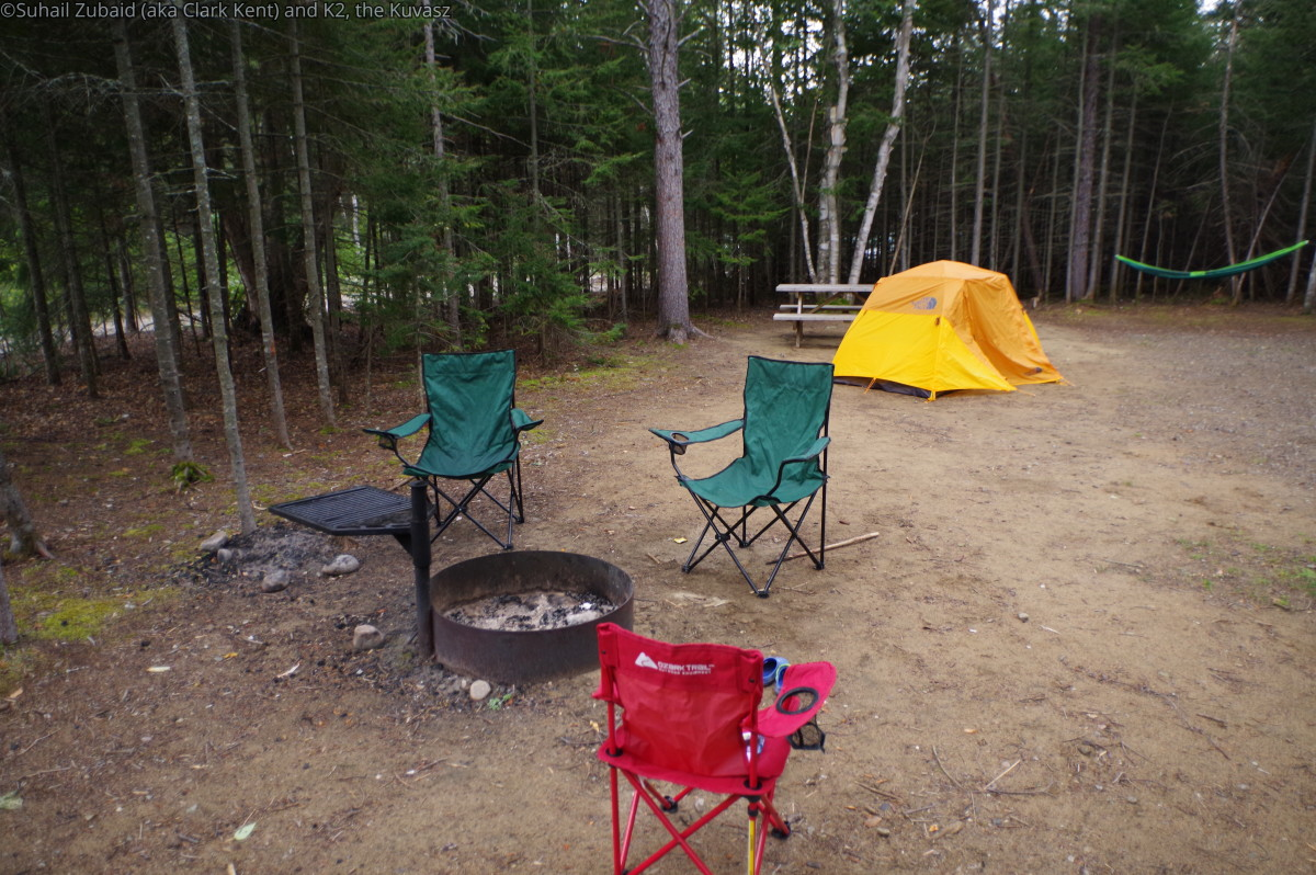 We set up our camp right beside the RV.