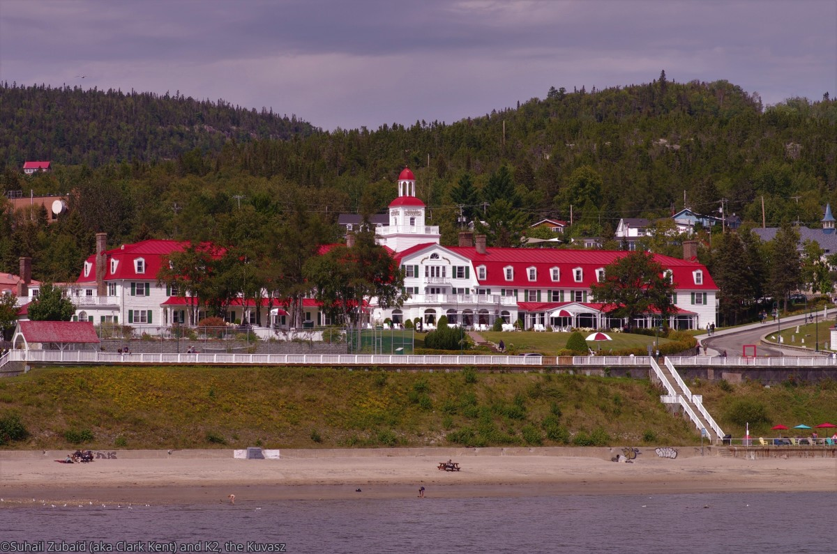 We could have stayed in Hotel Tadoussac and then driven a rented vehicle to visit the two national parks within 50 km from here.