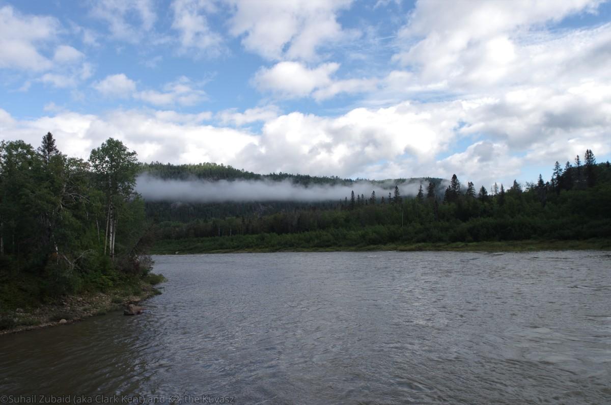 Rivière Sainte-Marguerite as it flows through the Saguenay Fjord National Park in Quebec.