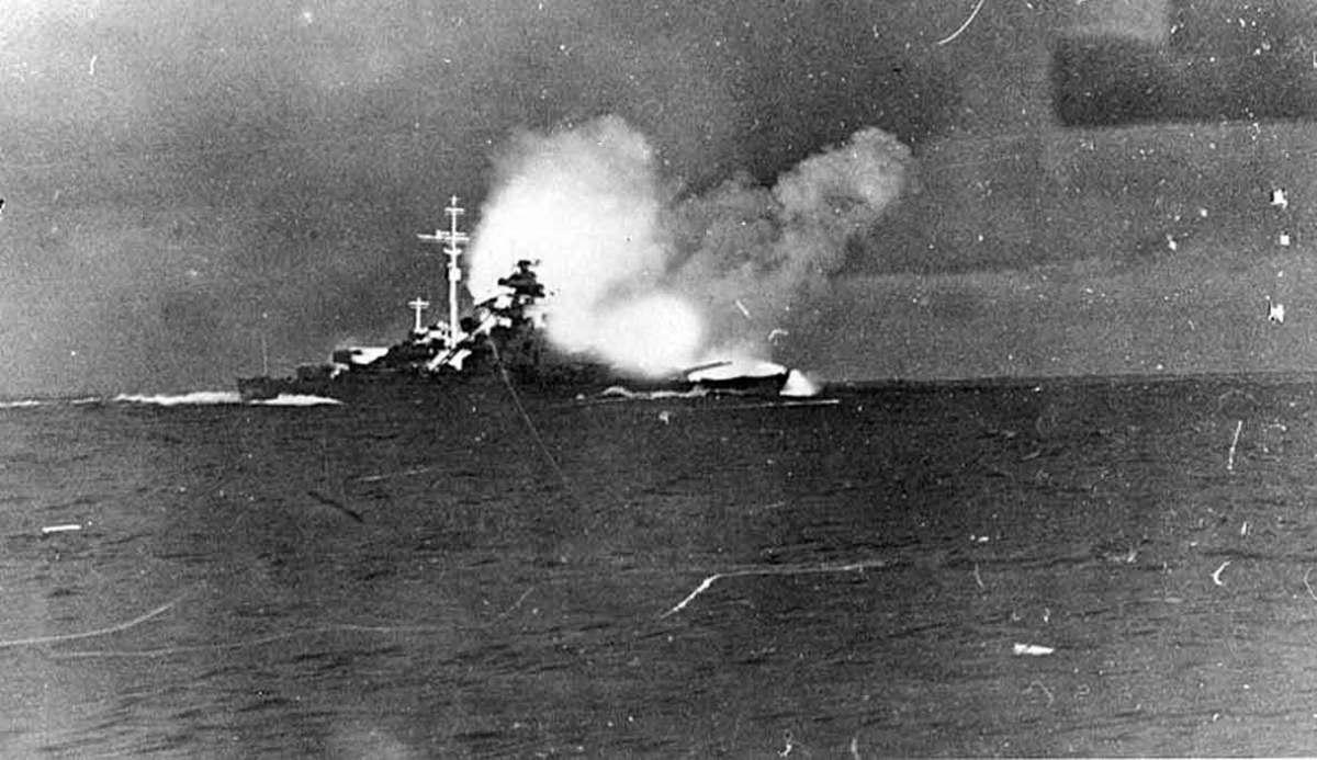 HMS  Hood sinking