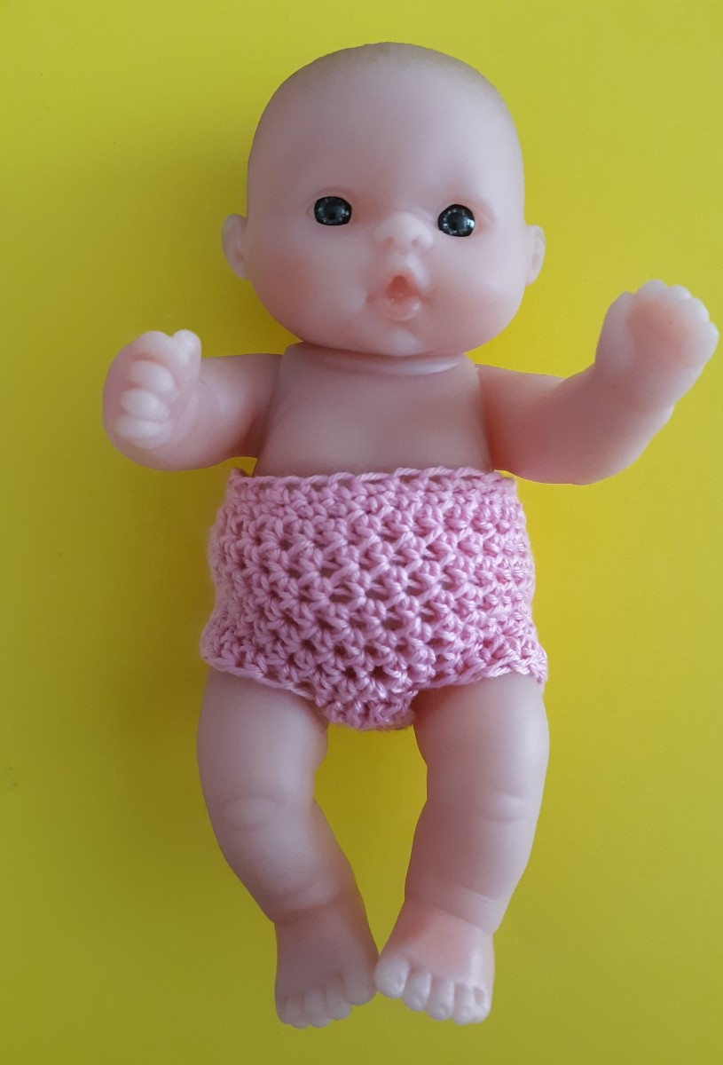 Free Quick & Easy Crochet Patterns 5-Inch Berenguer Panties for Lots to Love Dolls
