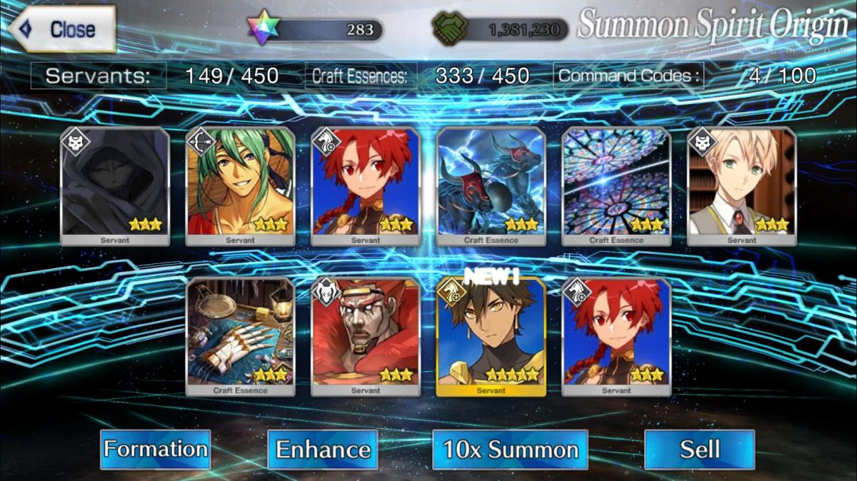 """The Servant on rate up was Artoria Alter Rider, I got Rider Ozymandias instead, not exactly what I wanted but I'll take it.  This is a """"spook"""" in this game."""