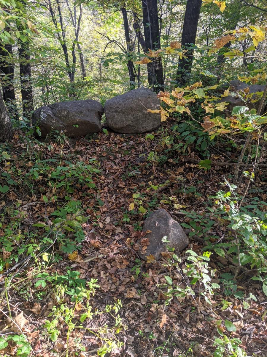 Rocks to prevent falls
