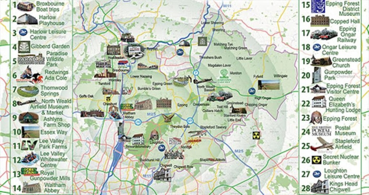 Epping Forest lies to the north-east of London on the north-western edge of the county of Essex. Nearest towns are Epping and Loughton in Essex, Chingford in North-east London (Essex until the mid-1960's)