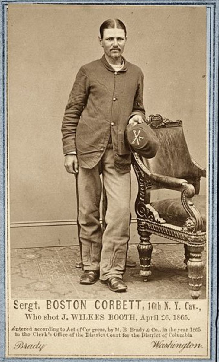 Portrait of Sgt. Boston Corbett in the Union Army