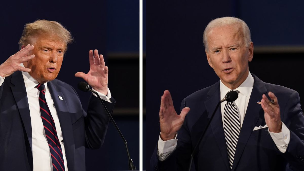 Left: Donald Trump Right: Joe Biden