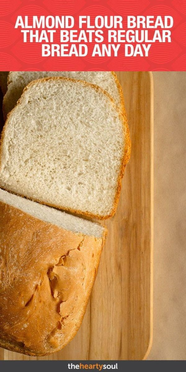 Almond flour and almond milk are used in this bread recipe by theheartysoul.com