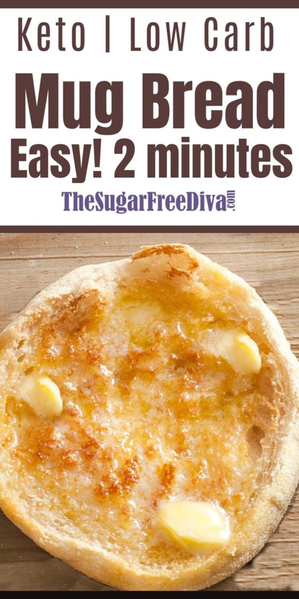 With very few ingredients, this comes together in 2 minutes, and makes a single serving.  From thesugarfreediva.com
