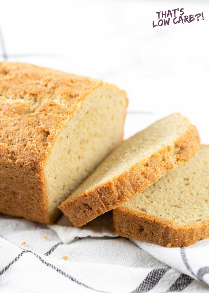 Almond flour is used to create this low carb bread by thatslowcarb.com