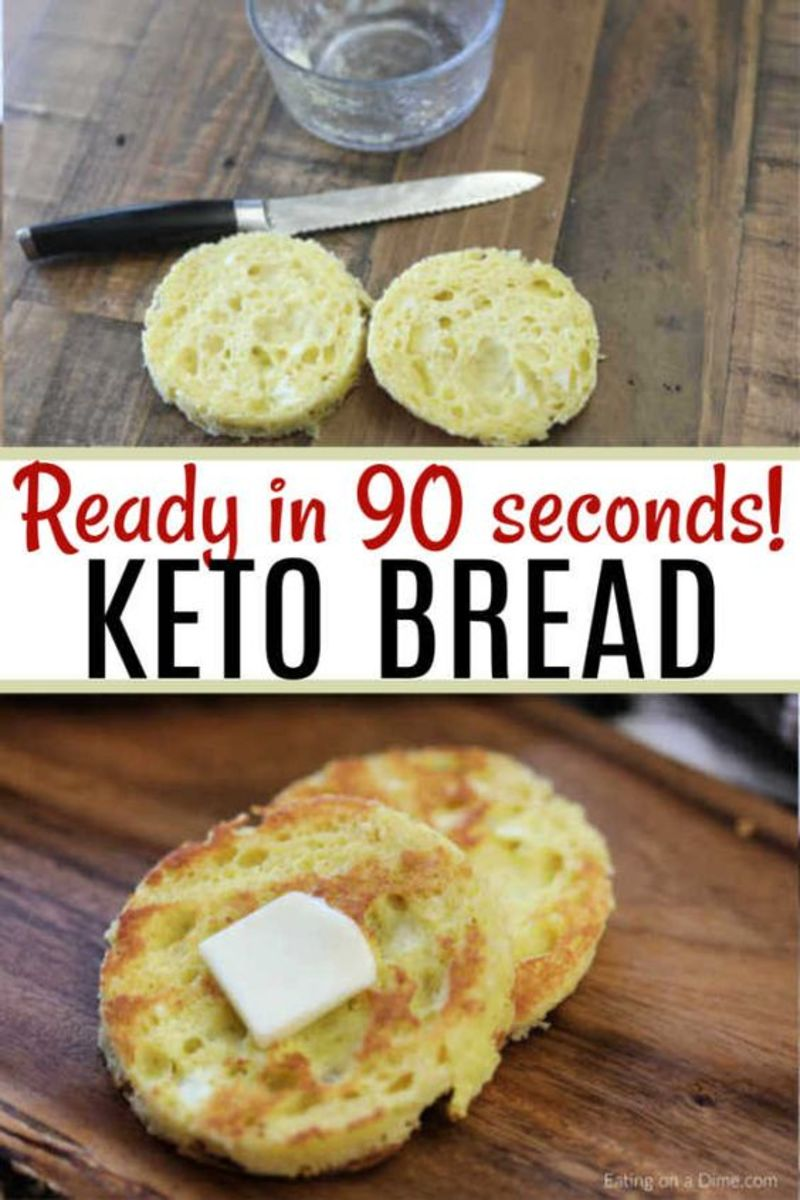 Another 90 second keto bread recipe, this time by eatingonadime.com