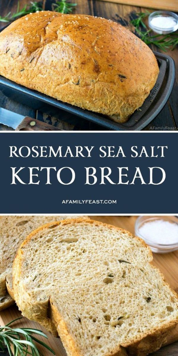 Rosemary Sea Salt keto bread by afamilyfeast.com took several attempts until this recipe was perfected.