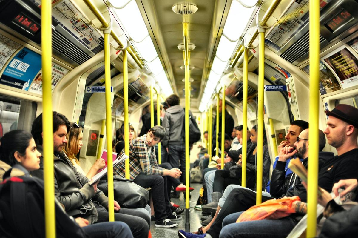 A crowded train may call for making adjustments.