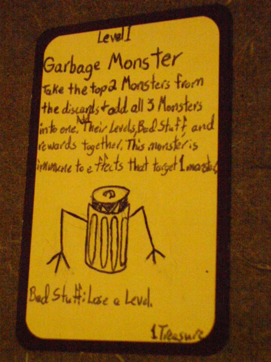Custom Card Ideas: Garbage Monster