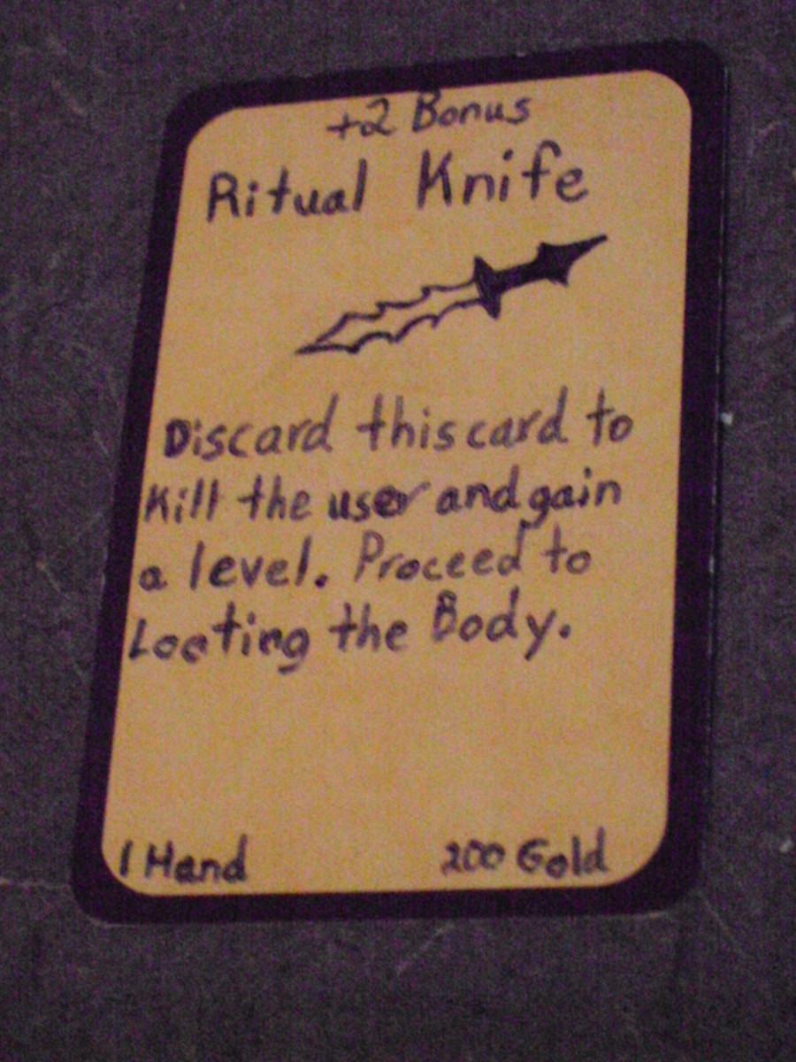 Custom Card Ideas: Ritual Knife