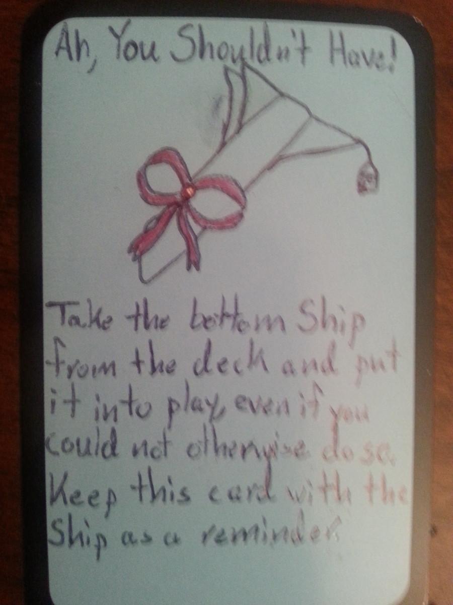 Custom Card Ideas - Ah,  You Shouldn't Have!