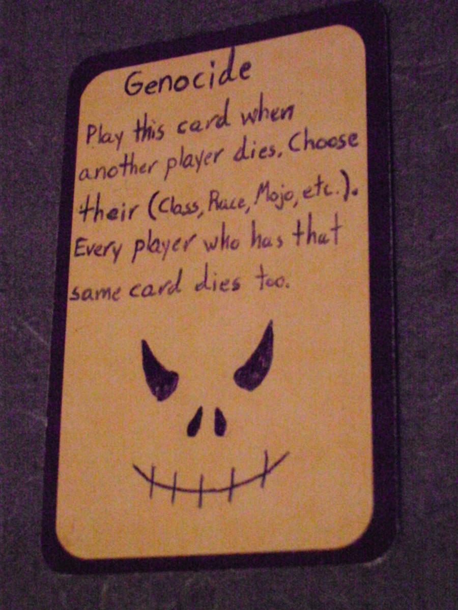 Custom Card Ideas: Genocide