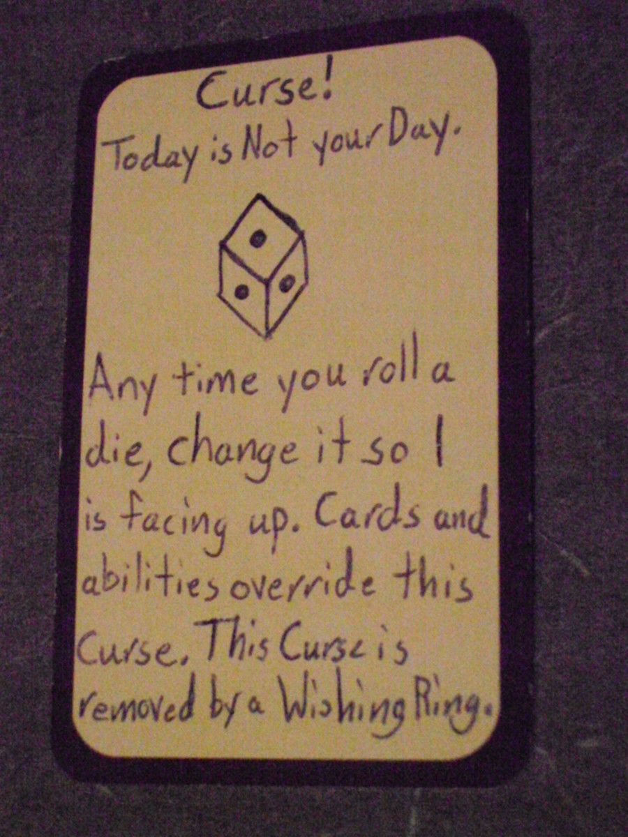 Custom Card Ideas - Curse! Today is Not your Day