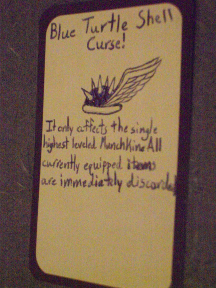 Custom Card Ideas: Curse! Blue Turtle Shell