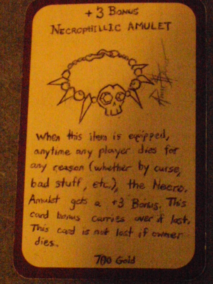 Custom Card Ideas: The Necrophillic Amulet