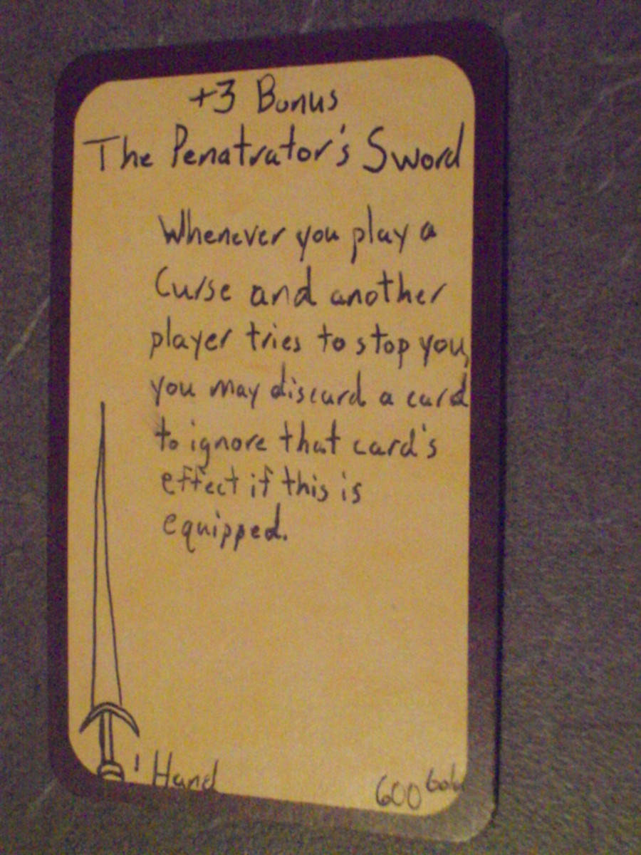 Custom Card Ideas: The Penatrator Sword