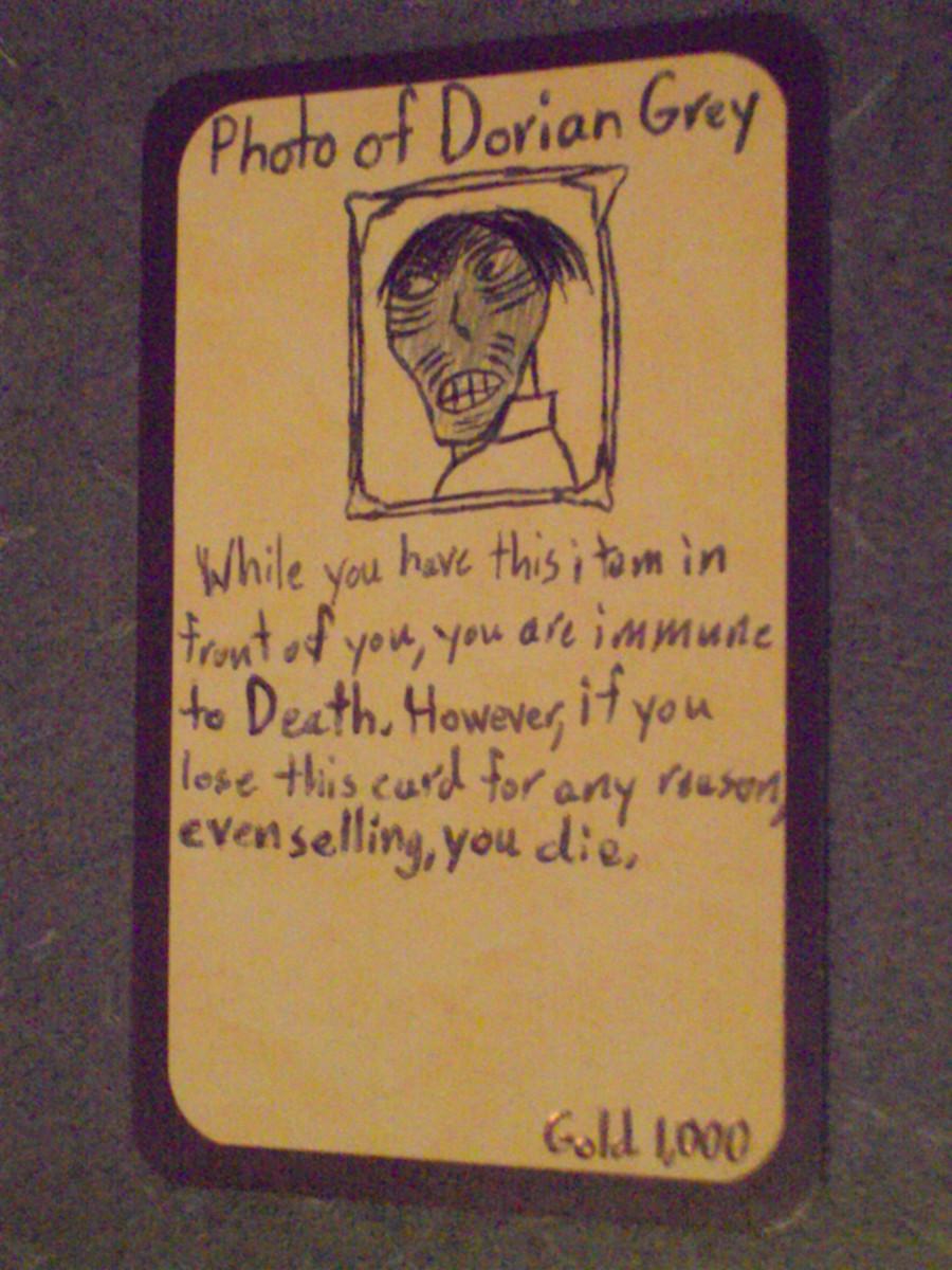 Custom Card Ideas: Photo of Dorian Gray