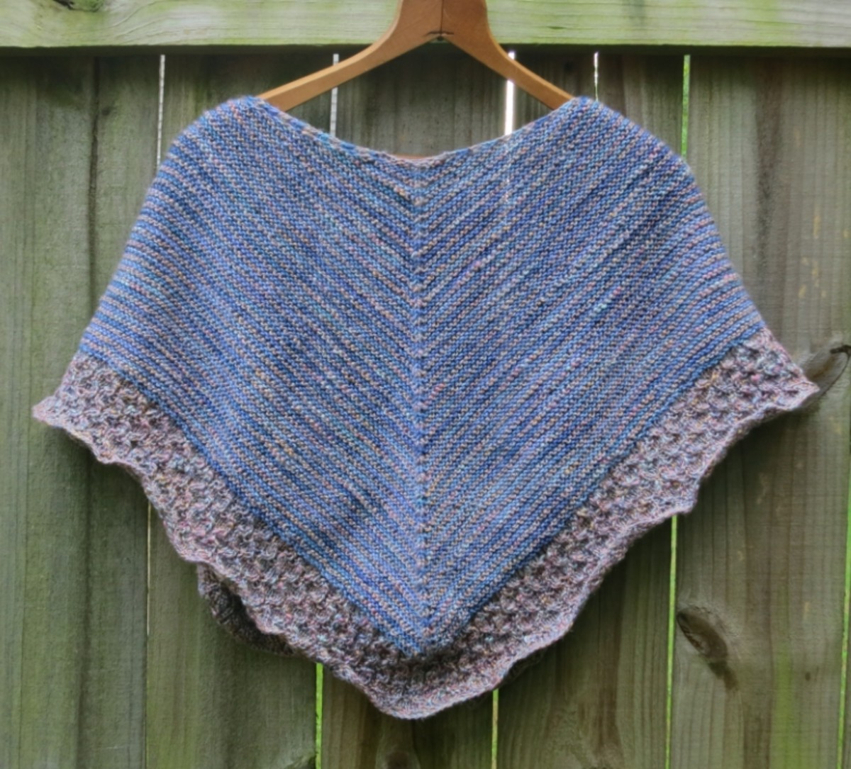 free lightweight textured shawl knitting pattern