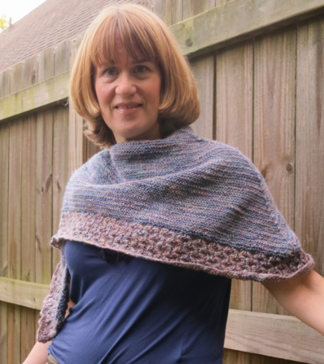 knitted textured shawl pattern