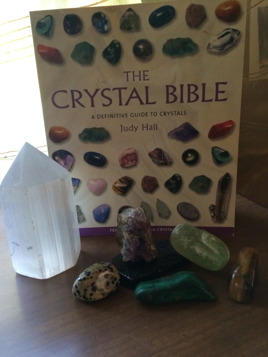 My copy of The Crystal Bible