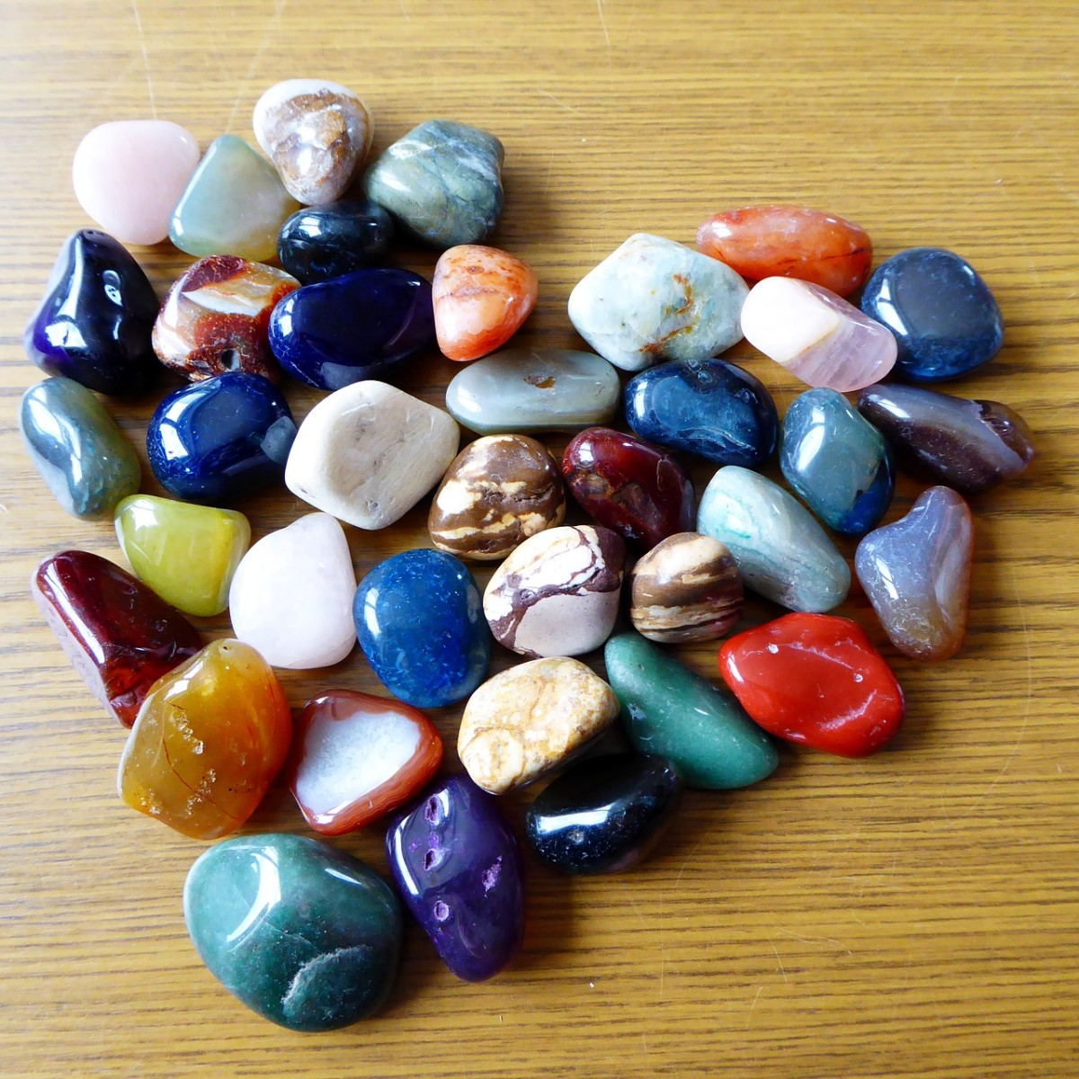 Crystals and Stones in Shape of Heart