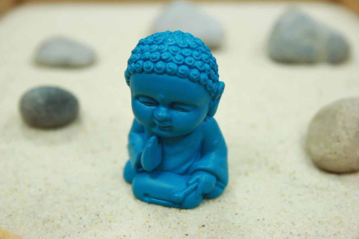Zen Garden with pocket buddha