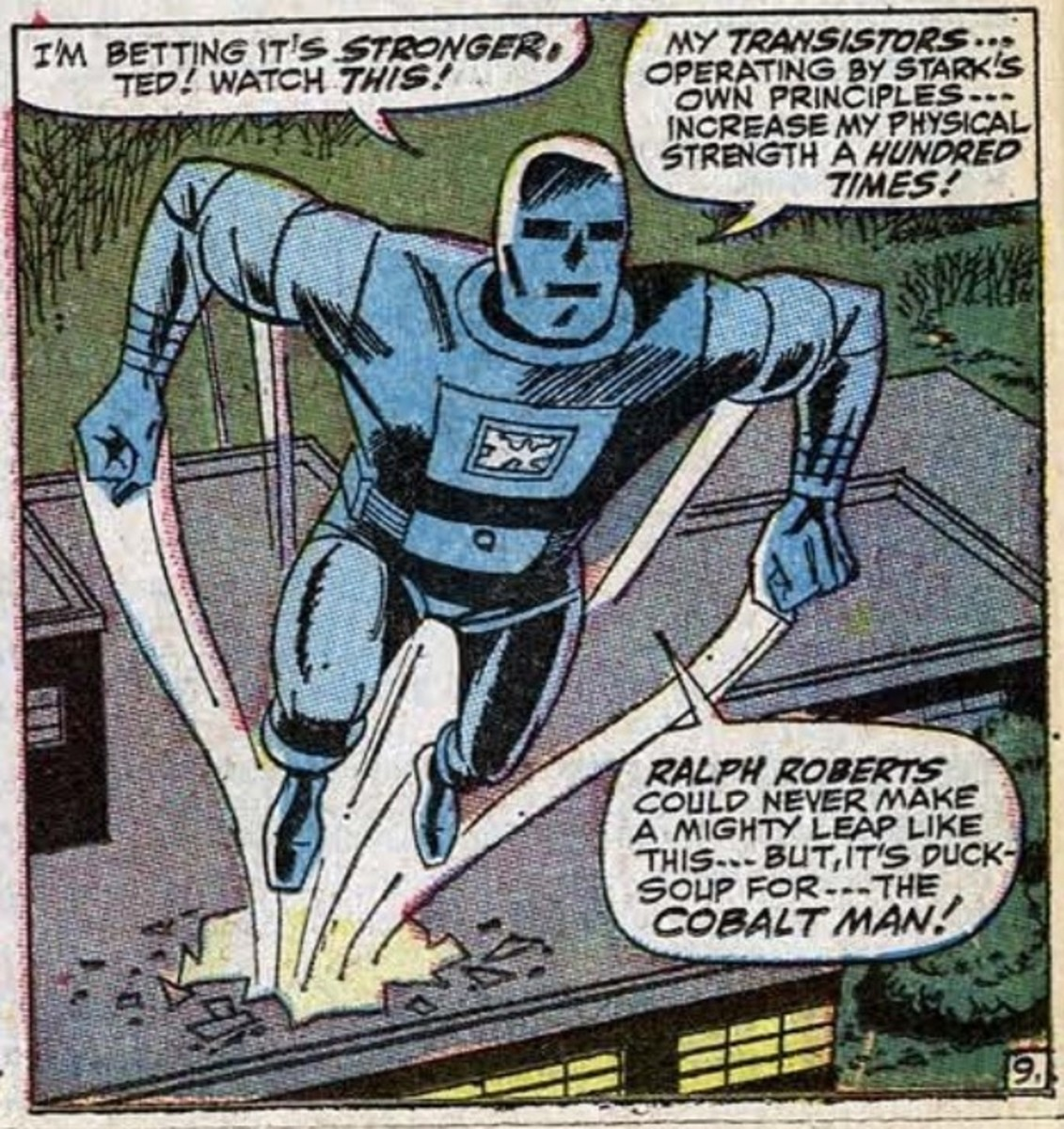 Cobalt Man and his toxic armor