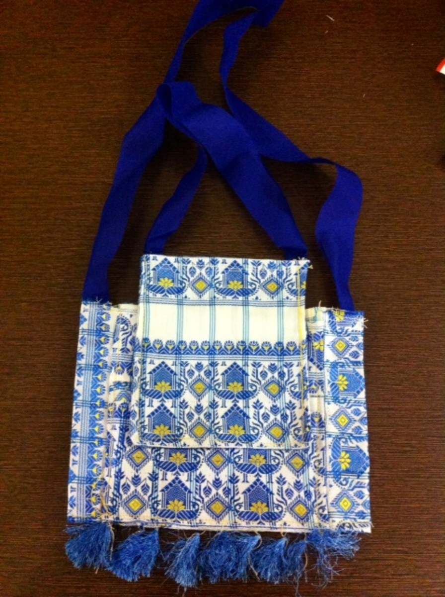 Silk gift pouches made with scrap silk fabric/ cut pieces of silk fabric